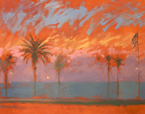 Ocean, lights and palms XI <span>'between day and night'</span>